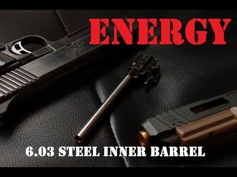 AIRSOFT   REVIEW   TBC   Energy Hand Gun 6.03mm Stainless Steel Precision Barrel M1911/MEU