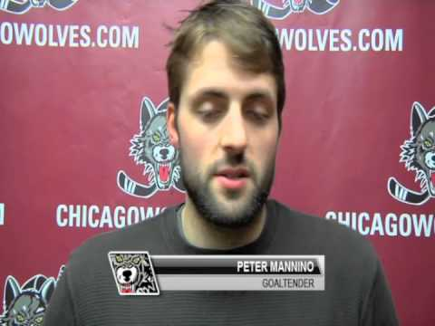 Goaltender Peter Mannino - When do you read?