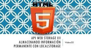 Curso de HTML 5. Parte 50