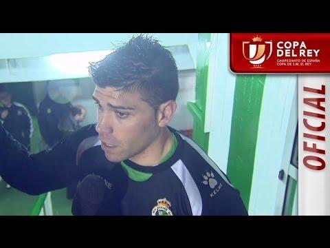 Entrevista a Javi Soria tras el Racing de Santander - Real Sociedad - HD Copa del Rey