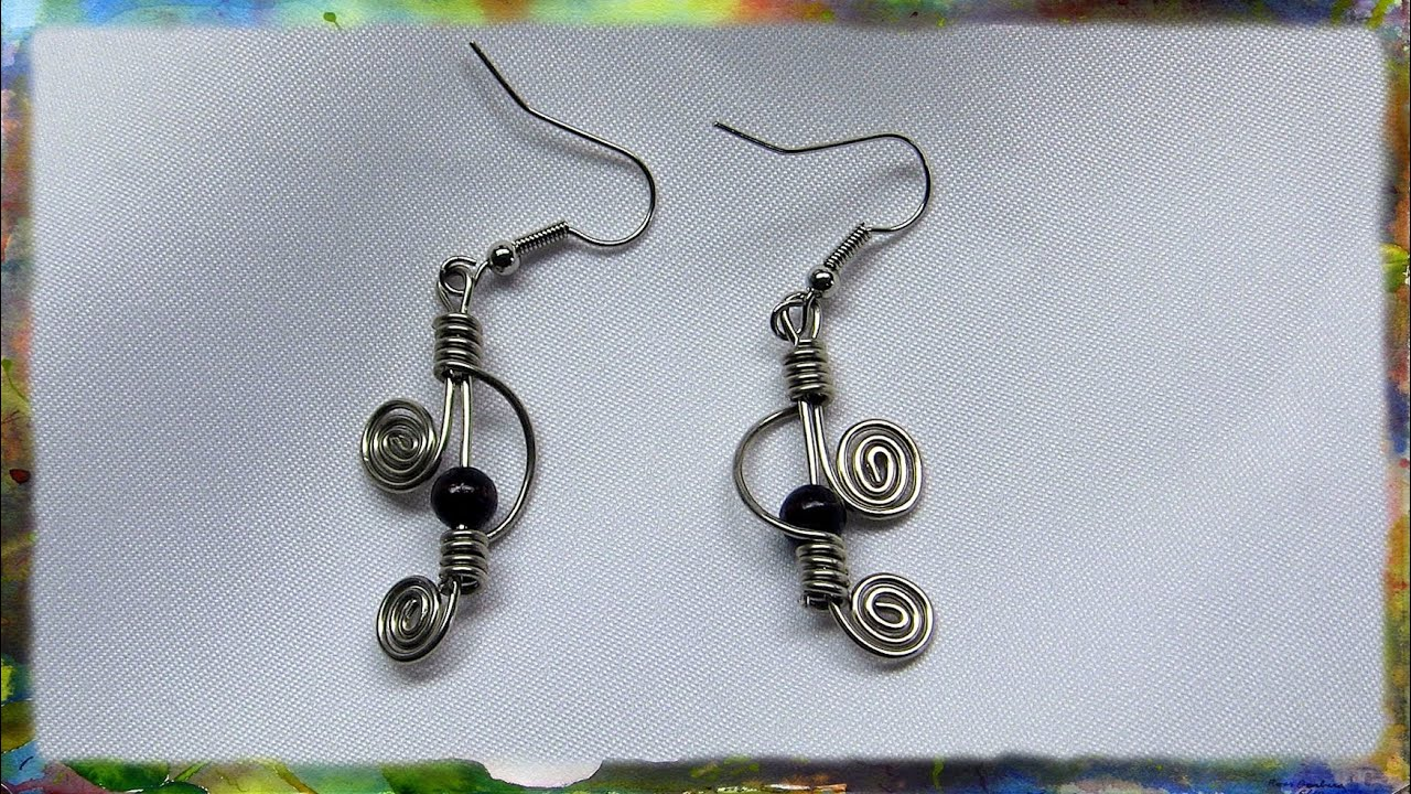 How to construct elegant double spiral earrings by ross for Step by step wire jewelry subscription