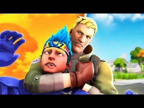 KILLING NINJA WITH HIS OWN SKIN (FORTNITE FUNNY MOMENTS)