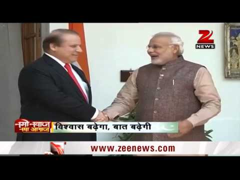 PM Narendra Modi meets Nawaz Sharif; begins bilateral talks