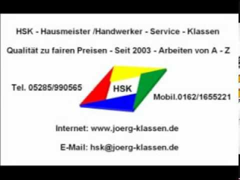 HSK Hausmeisterservice Handwerkerservice Klassen Bad Pyrmont Hameln