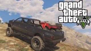 ★ GTA 5 Hauling ATV Up Mountain Off-Road 4x4