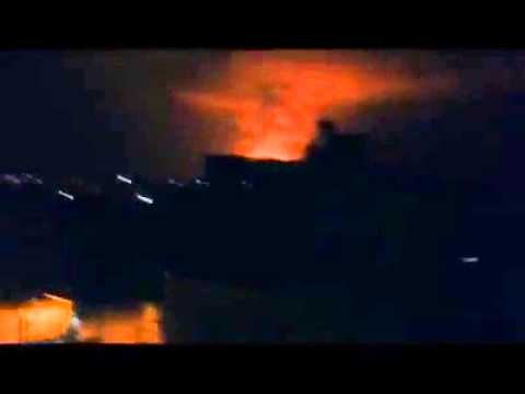 Breaking news. Israeli army launches air raids on Gaza Strip