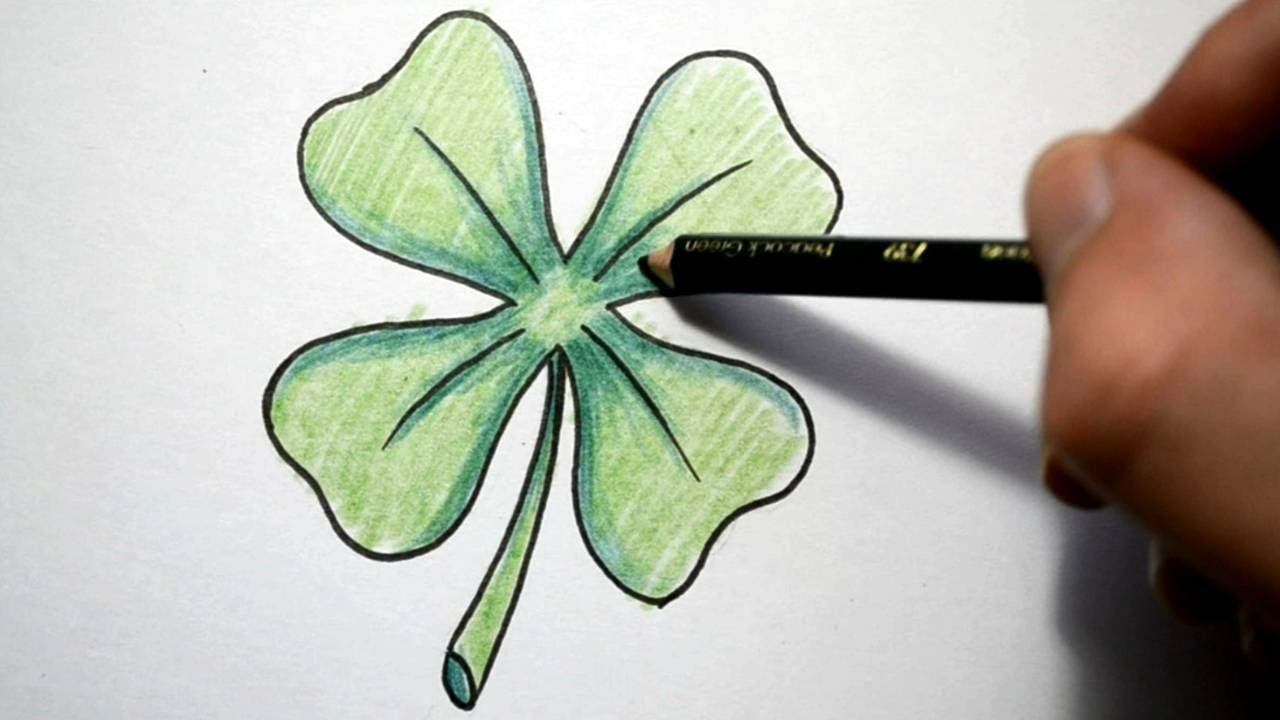 How To Draw A Four Leaf Clover YouTube
