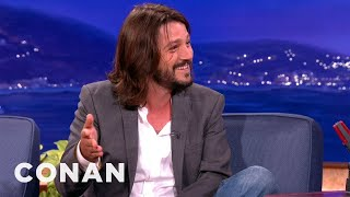 Diego Luna Teaches Conan Survival Spanish