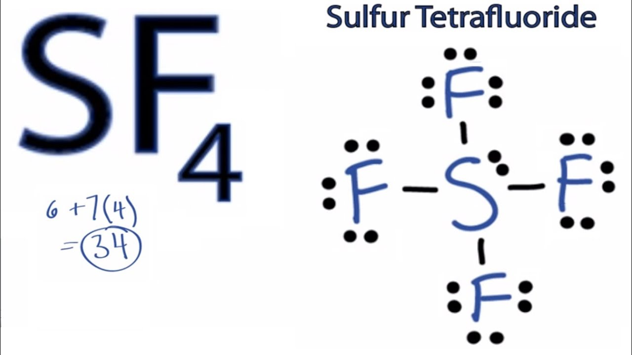 sf4 lewis structure  how to draw the lewis structure for sf4