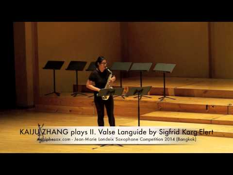 KAIJU ZHANG plays II Valse Languide by Sigfrid Karg Elert