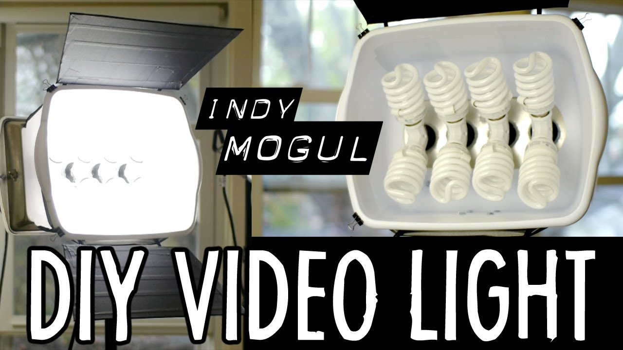 how to powerful diy video light 800 watt equivalent youtube