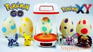 Pokemon GO Surprise Eggs Toys Slime Clay With Pokemon Incubator Playset
