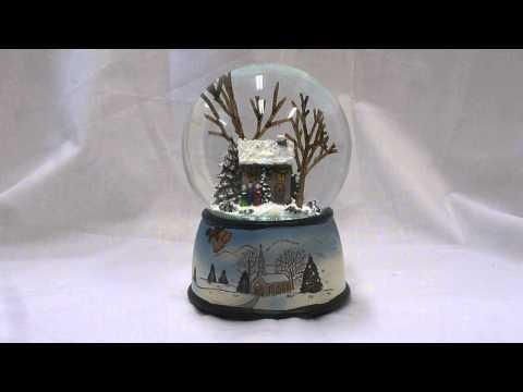 Winter Cottage Snow Globe