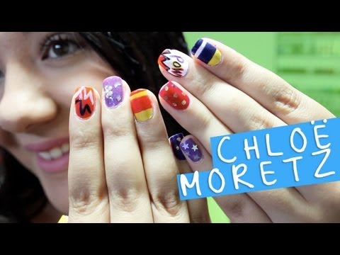Chloe Moretz's NYLON May 2013 Inspired Nails !, Chloe's nails: http://style.mtv.com//wp-content/uploads/style/2013/01/chloe-moretz-nail-art.jpg If you liked this video, please don't forget to give this vid...