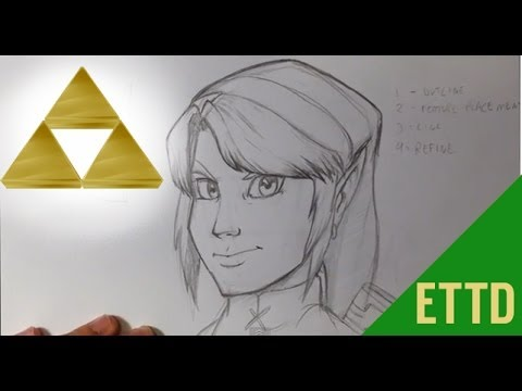 How to Draw Legend of Zelda (Link) - Easy Things To Draw