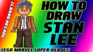 How To Draw Stan Lee From Lego Marvel Super Heroes