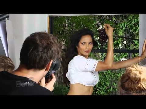 Padma Lakshmi Fitness Magazine Cover Shoot