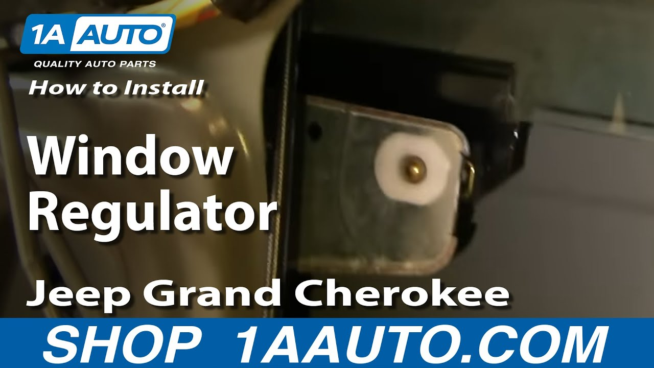 How to install replace window regulator jeep grand for 02 jeep grand cherokee window regulator