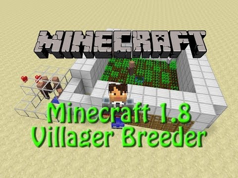 Minecraft: 1.8 Infinite Villager Breeder Showcase no Redstone
