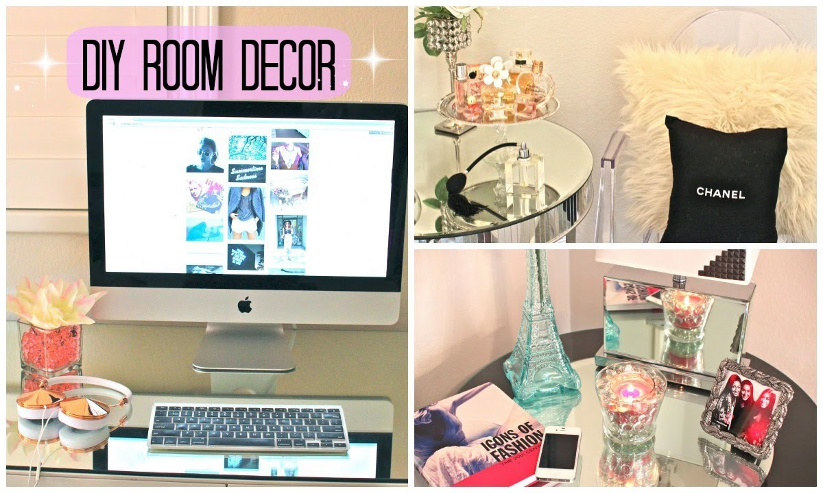 Diy room decor cute affordable youtube for Cute diy bedroom ideas