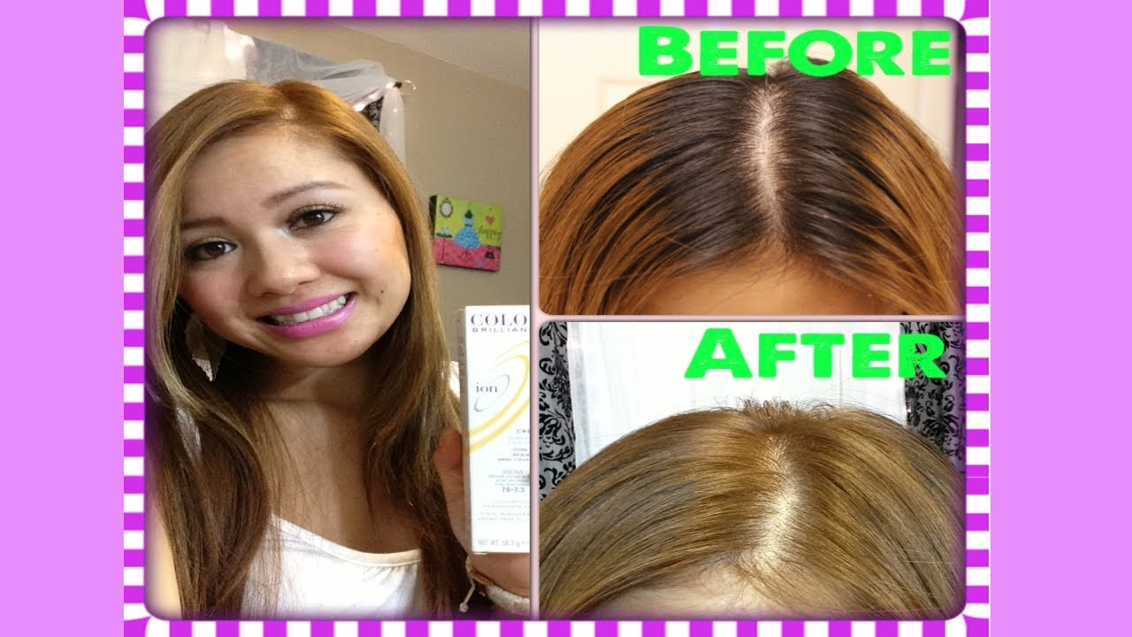 How to Dye Black Hair to Light Brown - How I Dye My Roots! - YouTube