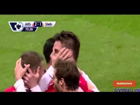 Arsenal-Swansea 2-2.ОБЗОР МАТЧА,26.03.2014 29-й тур