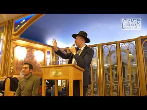 Conférence du Rav David Touitou à la Grande Synagogue Kyriat El de Créteil sur la fête de Pourim
