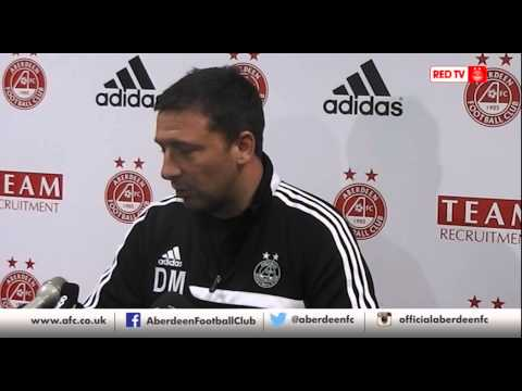 Aberdeen- Derek McInnes previews Inverness CT v Aberdeen, 17/04/14