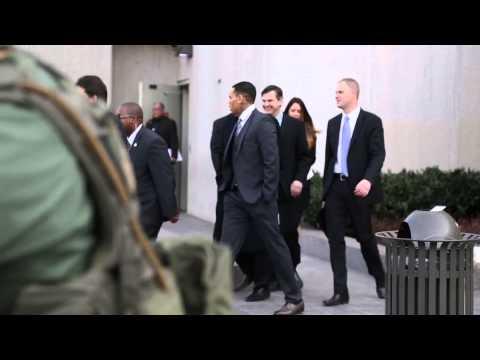 Chaos surrounds Chris Brown's court arrival