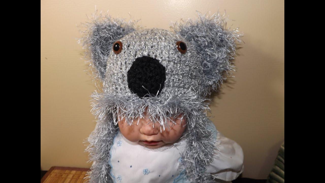Crochet Koala Hat - YouTube
