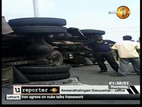 Newsfirst ureport 20Feb 14 (Eng)-Jaffna accident