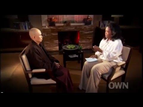 Oprah Winfrey talks with Thich Nhat Hanh