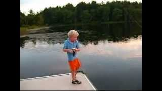 """Kid Catches """"sea Monster"""""""