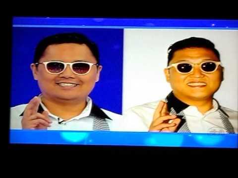 Sósias no Programa Silvio Santos 25/11/2012 - Sósia do Psy - PSY Look alike