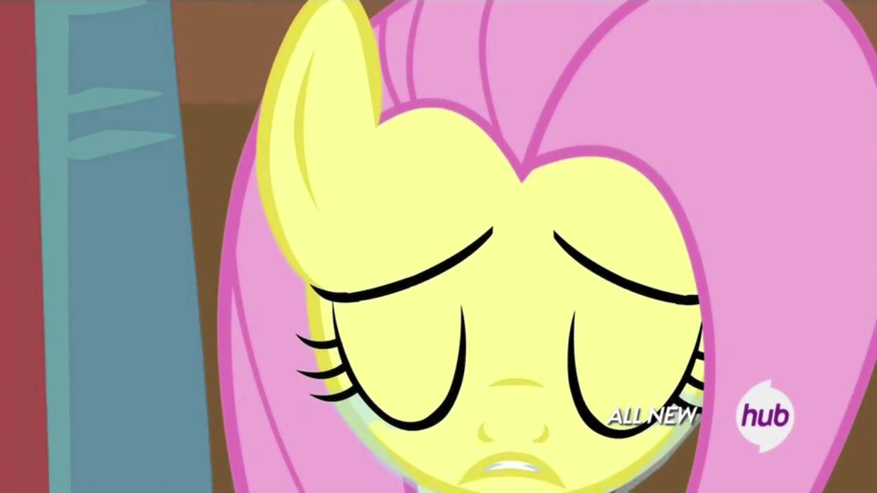 Fluttershy crying - YouTube