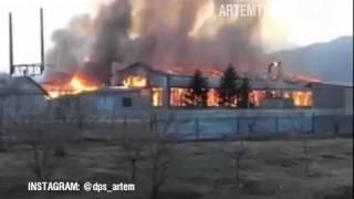Дежурная часть. Пожар на фабрике в Штыково. Сгорел производственный цех.