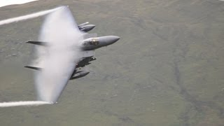 F15e & F15c Low Level Flying In The Mach-Loop