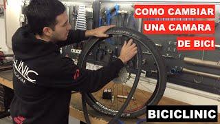 Cómo cambiar una cámara de bicicleta