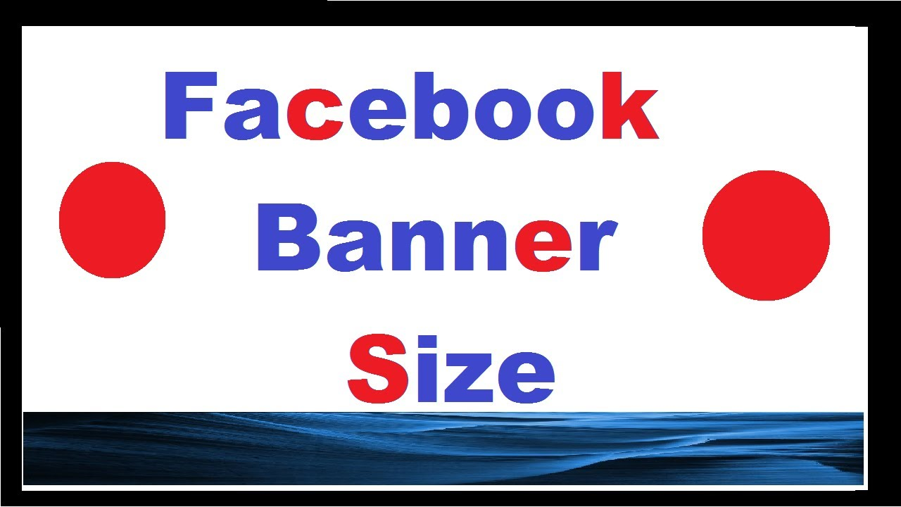 How to make a Facebook banner the right size - YouTube
