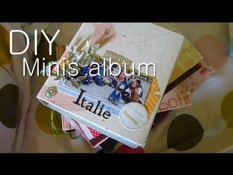 tutoriel diy 6 fa ons de r aliser un mini album de scrapbooking mini scrapbook album youtube. Black Bedroom Furniture Sets. Home Design Ideas