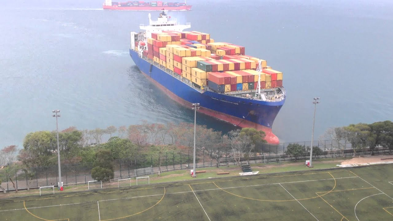 Container Ship Sails Straight To Shore By University