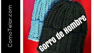 GORRO DE HOMBRE Con Telar Redondo / Circular Mens Hat On