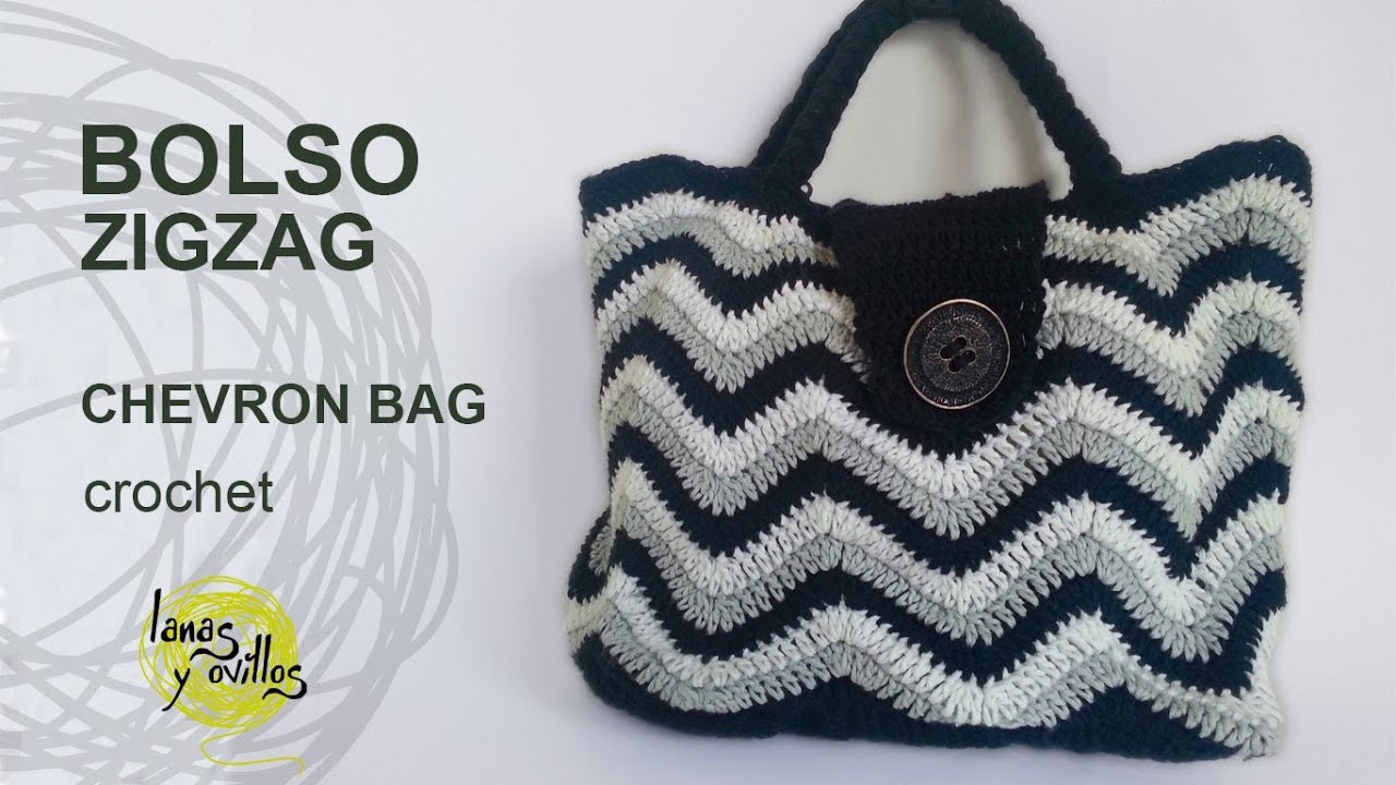 Crochet Tutorial Zigzag : Tutorial Bolso Crochet o Ganchillo ZigZag Handbag - YouTube