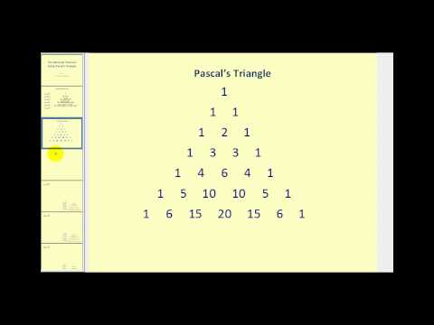 Binomial Expansion Using Pascal's Triangle