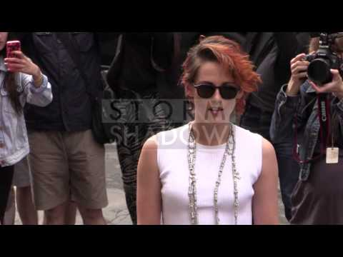Kristen Stewart hair SHORT and ORANGE at 2014 Chanel Haute Couture in Paris