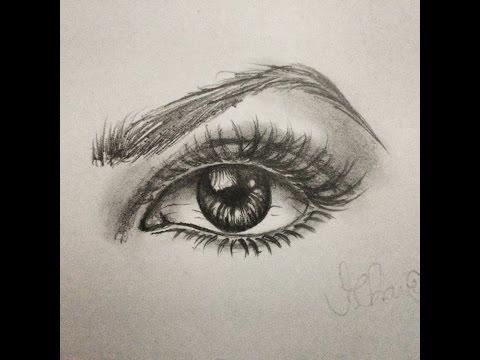 Como desenhar Olho Realista - Passo a Passo.