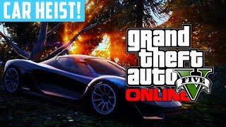 GTA 5 Online: Bank Heist Preparations Rare Super Car