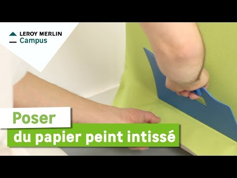 comment poser du papier peint intiss leroy merlin youtube. Black Bedroom Furniture Sets. Home Design Ideas
