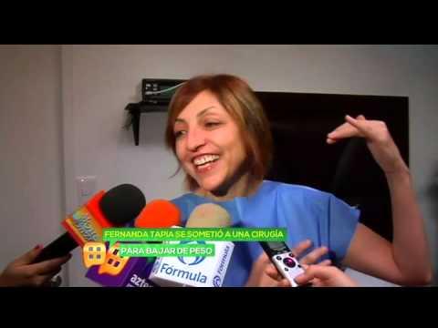 Fernanda Tapia nos deja grabar cirugía para perder peso
