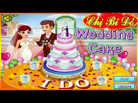 Chị bí đỏ làm bánh kem cho tiệc cưới (Wedding Cake) ♥ Trò chơi nấu ăn ♥